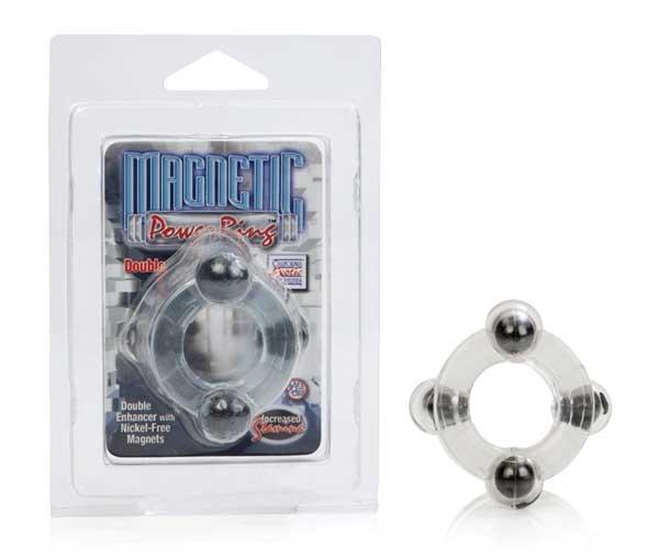 Двойное эрекционное кольцо с магнитами Magnetic Power Ring
