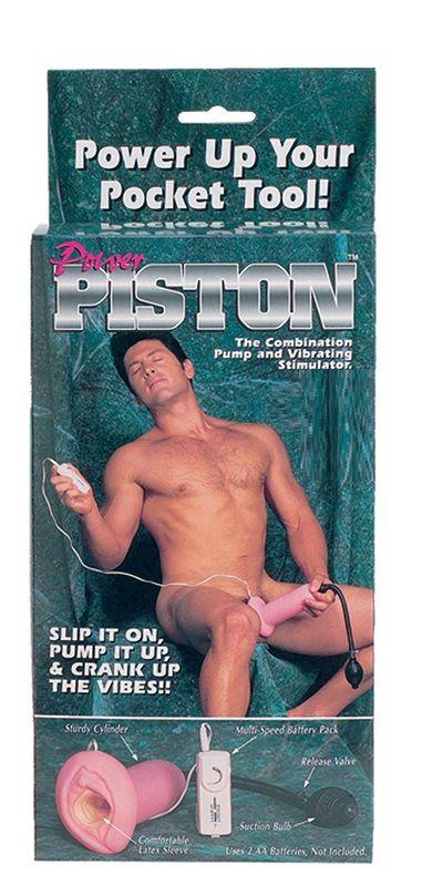 Мастурбатор с вакуумной стимуляцией Power Piston