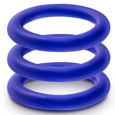 Набор из 3 синих эрекционных колец VS1 Pure Premium Silicone Cock Rings