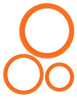 Набор из 3 эрекционных колец оранжевого цвета