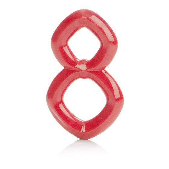 Красное эрекционное кольцо Crazy 8