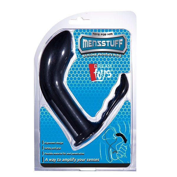 Чёрный стимулятор простаты PROSTATE PLUG - 12,5 см.