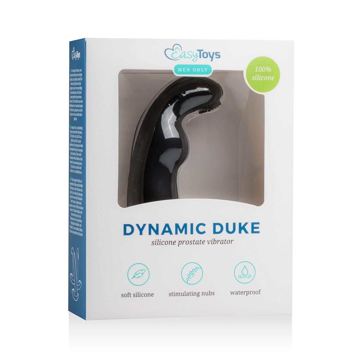 Черный вибростимулятор простаты Dynamic Duke Ribbed
