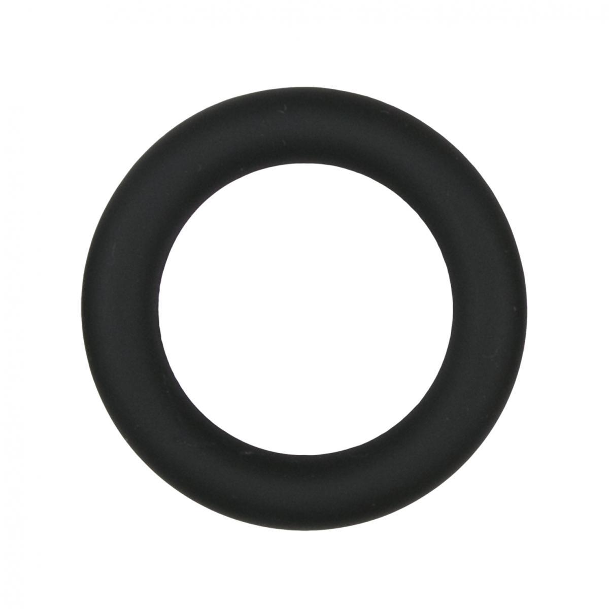 Черное эрекционное кольцо Silicone Cock Ring Medium