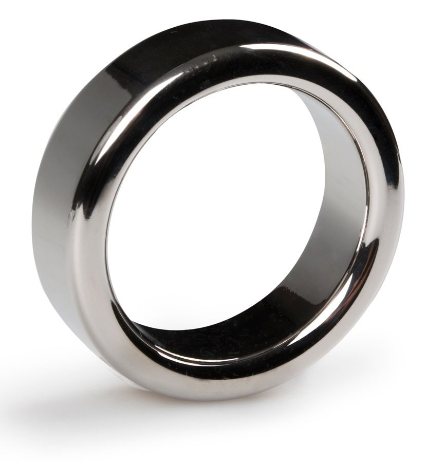 Серебристое эрекционное кольцо Heavy Cock Ring Size M