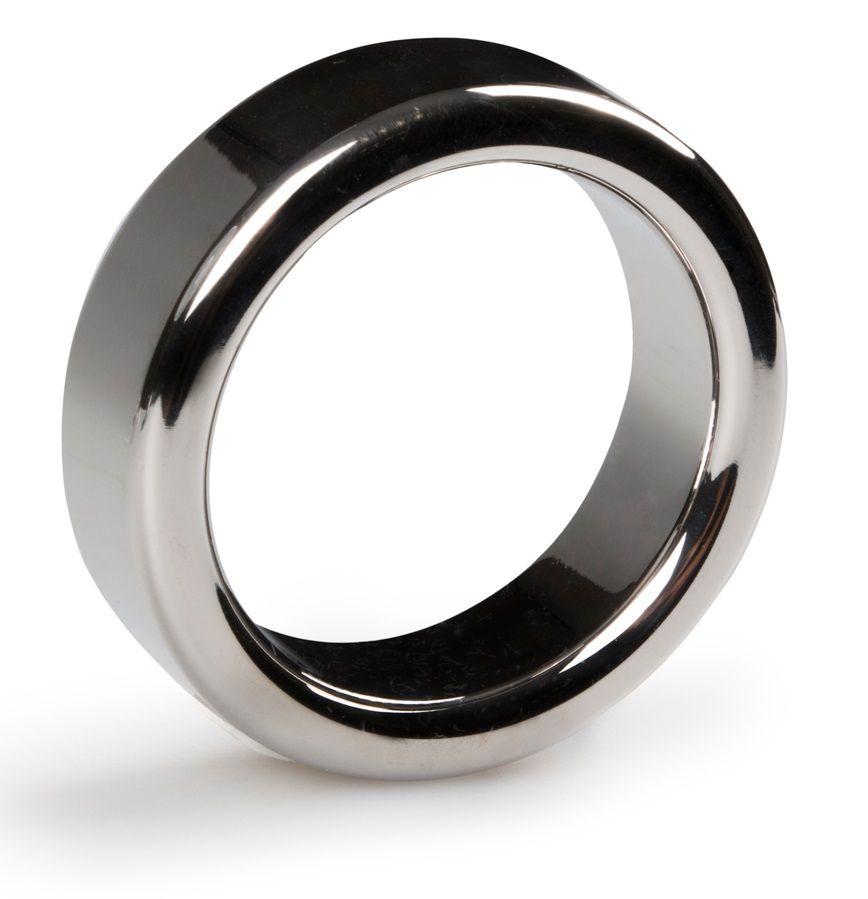 Серебристое эрекционное кольцо Heavy Cock Ring Size S