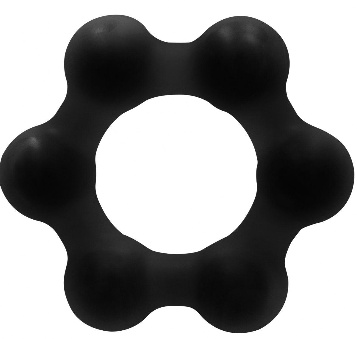 Черное эрекционное кольцо No.82 Weighted Cock Ring