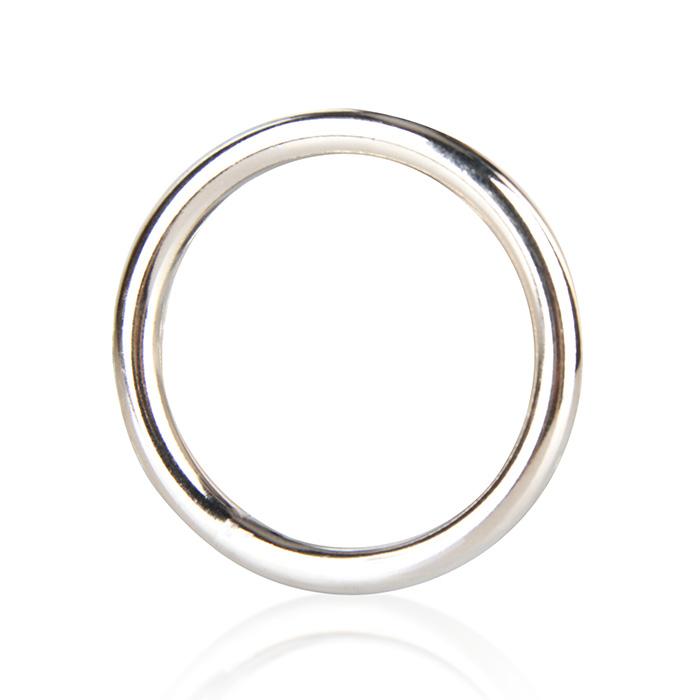 Стальное эрекционное кольцо STEEL COCK RING - 4.5 см.