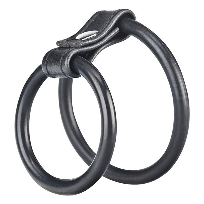 Двойное эрекционное кольцо на пенис и мошонку