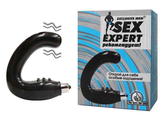 Чёрный массажёр простаты серии Sex Expert
