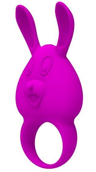 Фиолетовое перезаряжаемое эрекционное кольцо с вибрацией