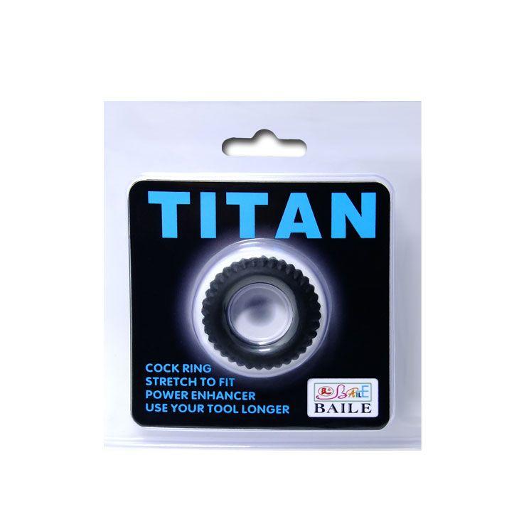 Эреционное кольцо с ребрышками Titan