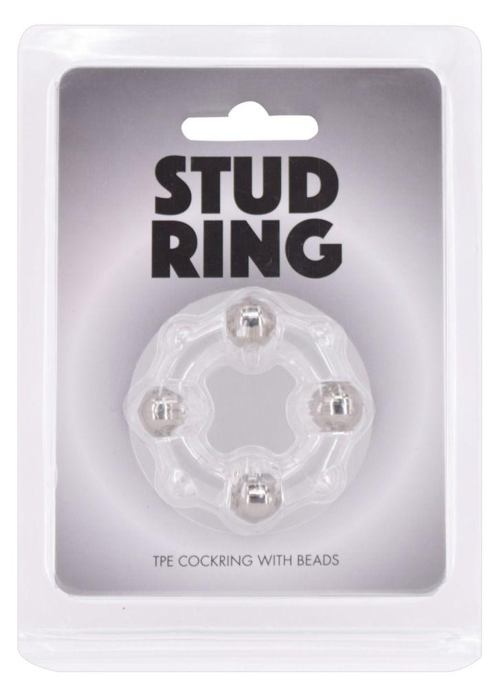 Эрекционное кольцо Stud Ring с бусинами