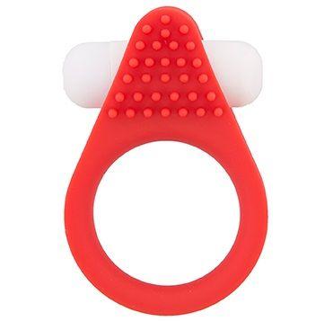 Красное эрекционное кольцо LIT-UP SILICONE STIMU RING 1 RED