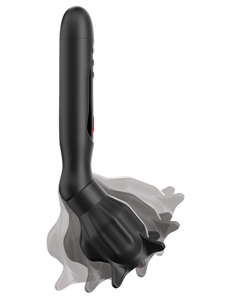 Чёрный вибростимулятор для головки члена с эффектом всасывания Vibrating Roto-Sucker
