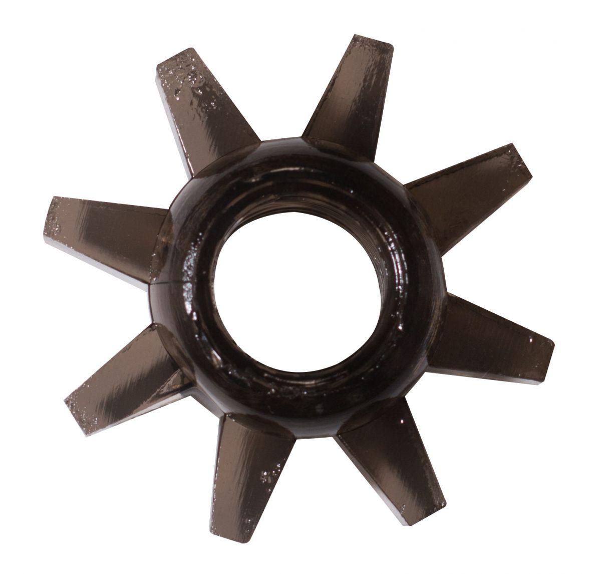 Чёрное эрекционное кольцо Rings Cogweel
