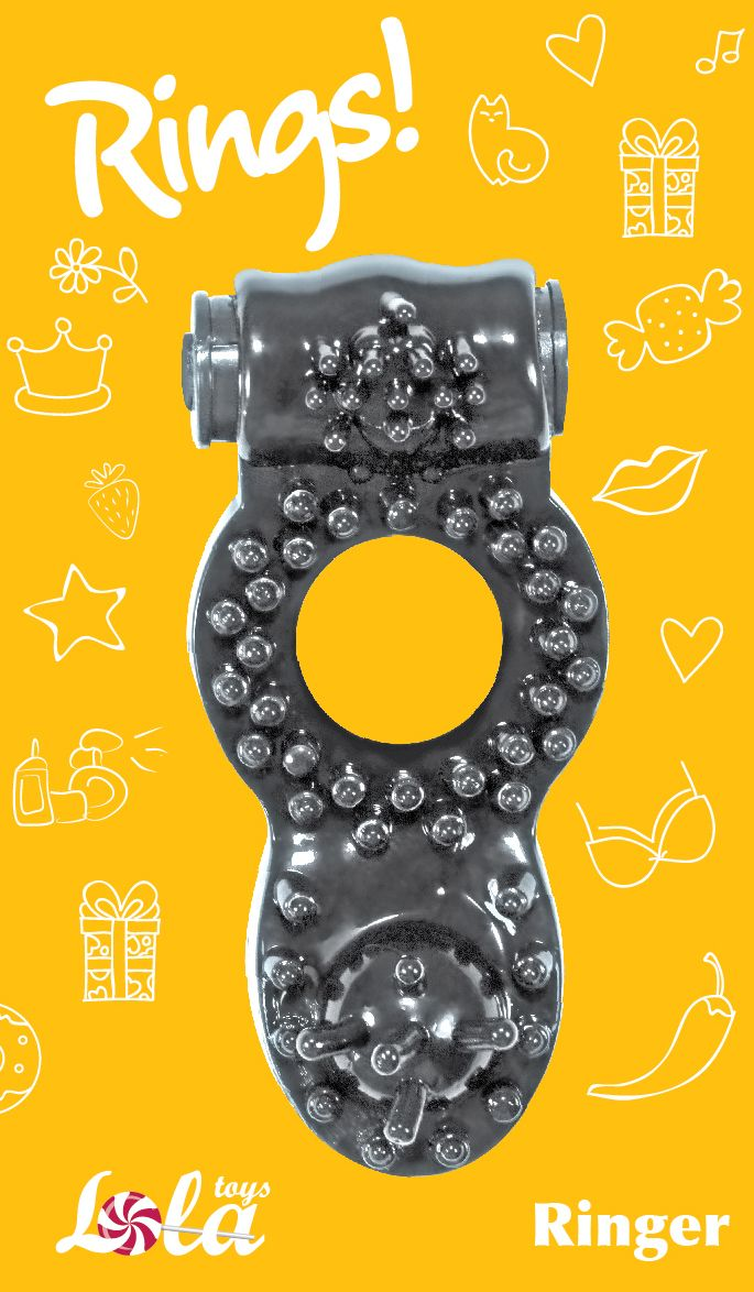 Чёрное эрекционное кольцо Rings Ringer