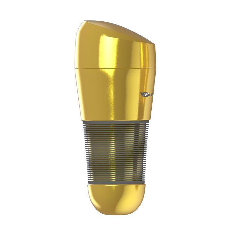Мастурбатор-ротик в золотистой колбе с крышечкой