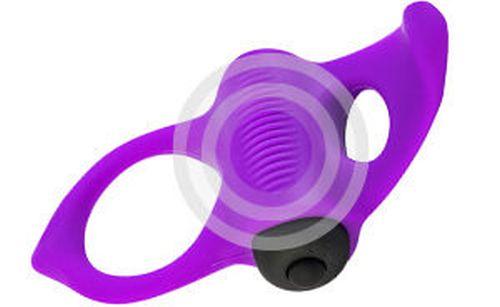 Фиолетовое эрекционное виброкольцо Lingus MAX