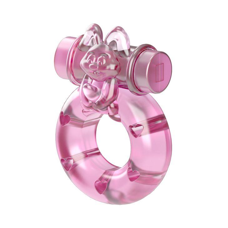 Розовое эрекционное кольцо с вибрацией Ring
