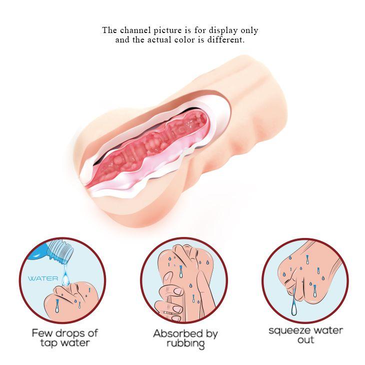 Мастурбатор со входом в виде вагины и эффектом смазки