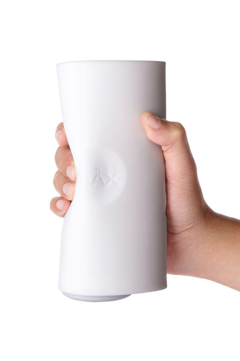 Белый мастурбатор Sense Max с вибрацией