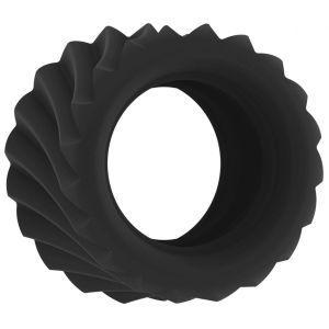 Черное эрекционное кольцо SONO №40