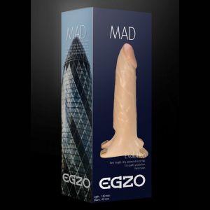 Поясной фаллоимитатор с эластичными ремешками MAD - 18 см.