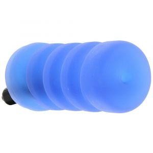 Голубой мастурбатор с вибрацией Zolo Backdoor Squeezable Vibrating Stroker