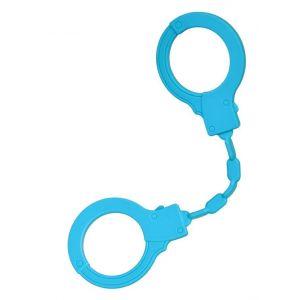 Голубые силиконовые наручники A-Toys без ключа