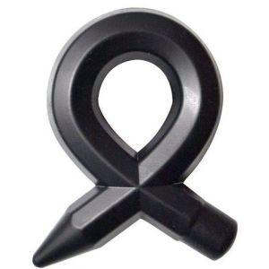 Чёрное силиконовое эрекционное кольцо RINGS LIQUID SILICONE