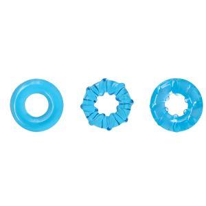 Набор из 3 голубых эрекционных колец Dyno Rings