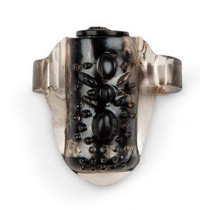 Черное эрекционное кольцо на член с вибрацией