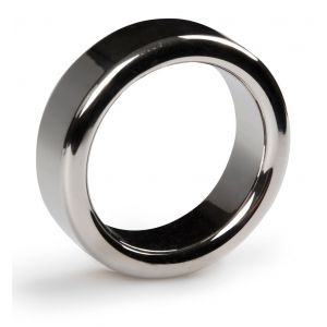 Серебристое эрекционное кольцо Sinner Metal Cockring Size S