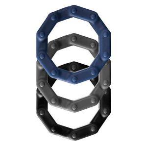 Набор из 3 разноцветных эрекционных колец Power Up