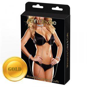 Ожерелье и браслеты Love Slave золотистого цвета