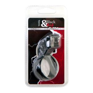 Чёрное эрекционное кольцо с клиторальным стимулятором