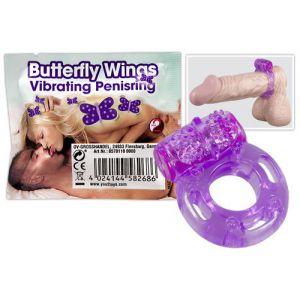 Фиолетовое эрекционное кольцо с виброэлементом