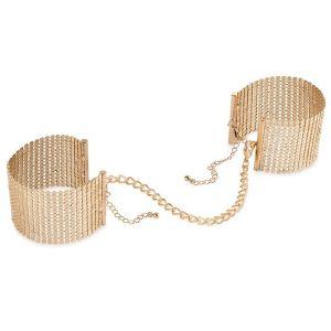 Дизайнерские золотистые наручники Desir Metallique Handcuffs Bijoux