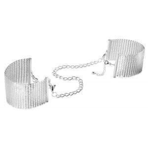 Серебристые наручники-браслеты Desir Metallique Handcuffs