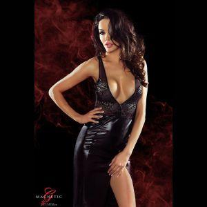 Длинное платье с глубоким декольте и вырезом на спине Jacqueline
