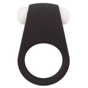Чёрное эрекционное виброкольцо LIT-UP SILICONE STIMU RING 4 BLACK