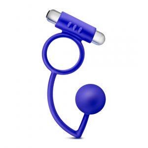 Синее эрекционное кольцо Penetrator Anal Ball with Vibrating Cock Ring