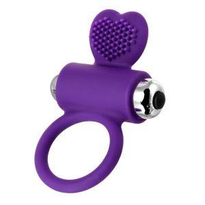 Фиолетовое виброкольцо с ресничками JOS PERY